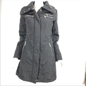 Laundry Shelli Segal Parka Coat Black Quilted 50